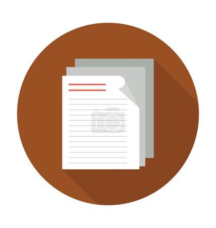 Illustration pour Icône de couleur plate financière . - image libre de droit