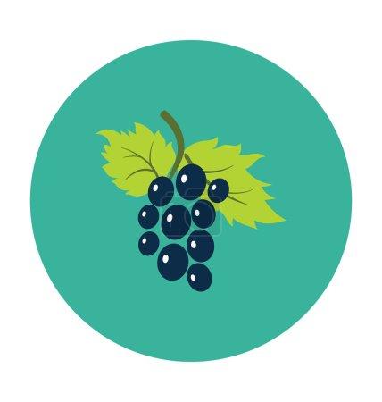 Grapes Colored Vector Icon