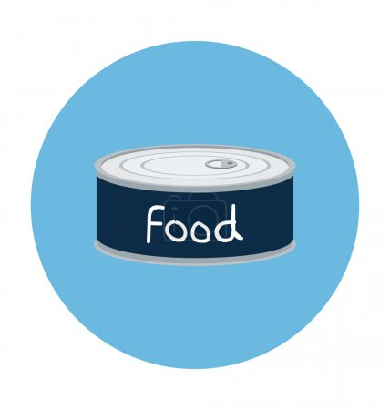 Illustration for Food flat colored icon. - Royalty Free Image