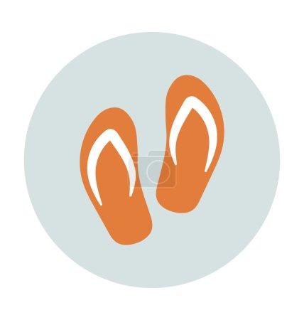 Flip Flops Colored Vector Icon