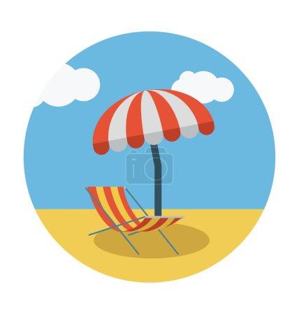 Sunbathe Colored Vector Icon