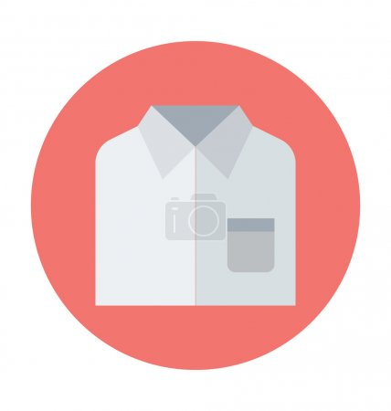 Dress Shirt Colored Vector Icon