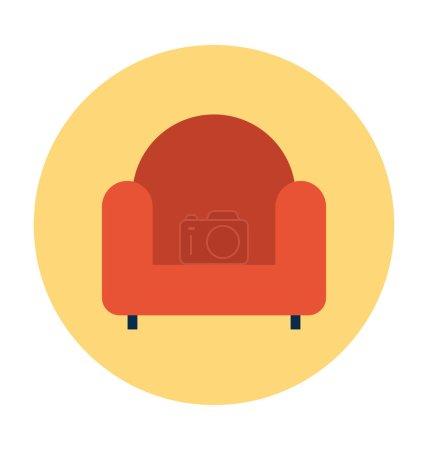 Sofa Colored Vector Icon