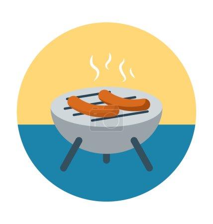 Barbecue Colored Vector Icon