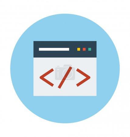 HTML Coding Colored Vector Illustration