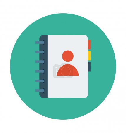 Contacts Diary Colored Vector Illustration