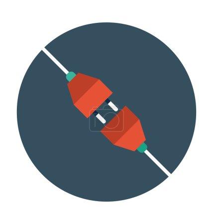 Illustration pour Internet icône de couleur plate . - image libre de droit