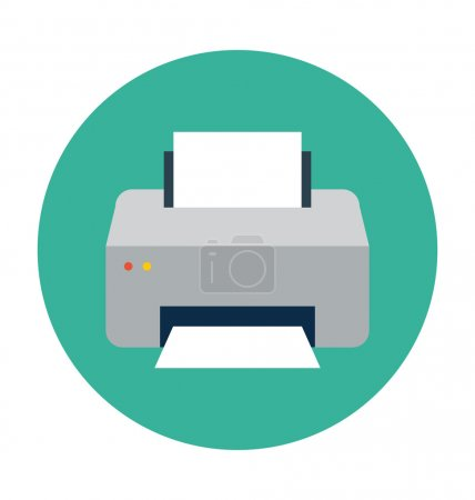 Printer Colored Vector Illustration