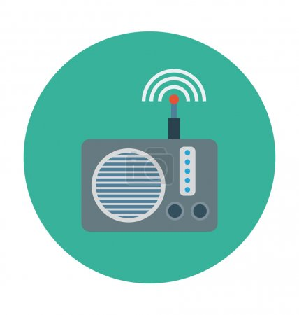 Radio Colored Vector Illustration