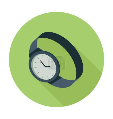 Wrist Watch Colored Vector Illustration