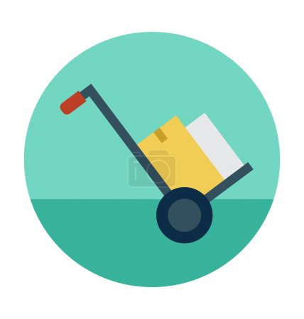 Illustration for Shopping and Commerce flat colored icon. - Royalty Free Image