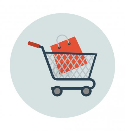 Shopping Cart Colored Vector Illustration
