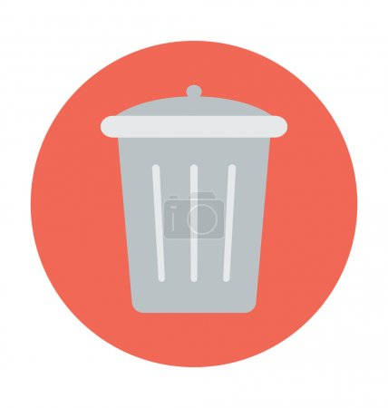 Dustbin Colored Vector Illustration