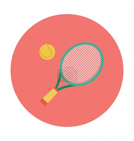 Tennis Colored Vector Icon