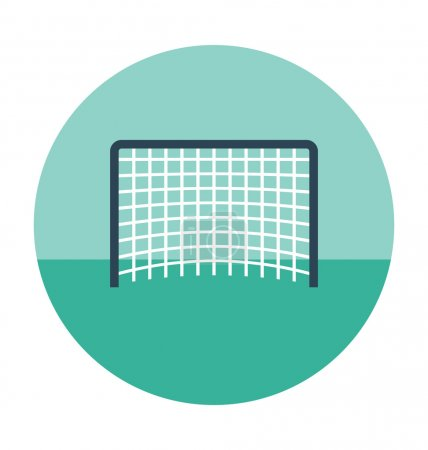 Football Net Colored Vector Icon