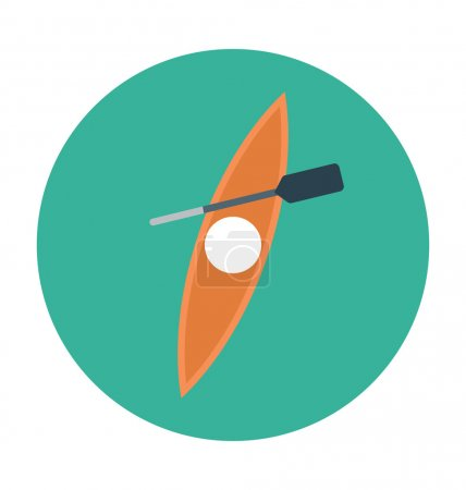 Canoe Colored Vector Icon