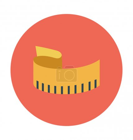 Measuring Tape Colored Vector Icon