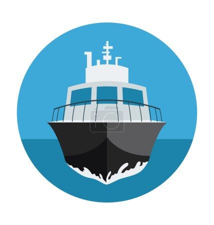 Illustration pour Transport icône de couleur plate . - image libre de droit