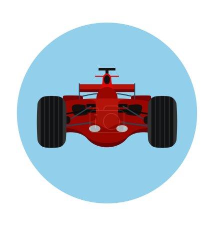 Sports Car Colored Vector Icon