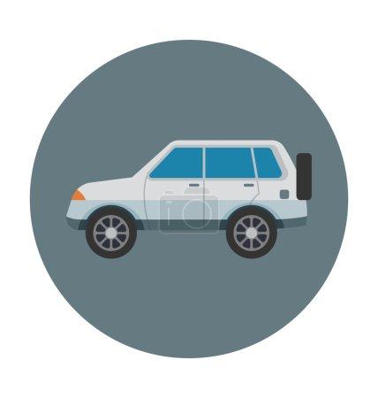 Jeep Colored Vector Icon