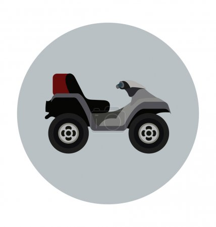 Quad Bike Colored Vector Icon
