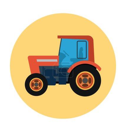 Tractor Colored Vector Icon