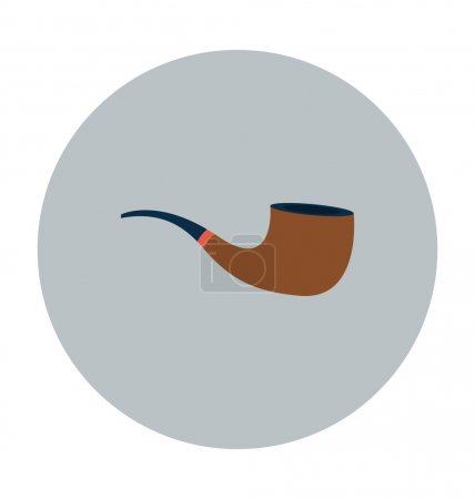 Smoking Pipe Colored Vector Icon