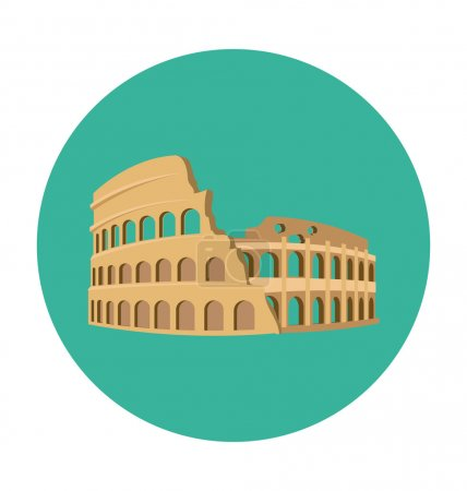 Colosseum Colored Vector Icon
