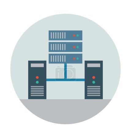 Illustration pour Icône de couleur plate Web . - image libre de droit