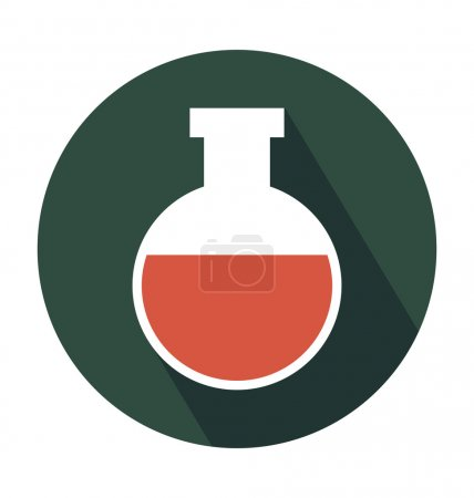 Conical Flask Colored Vector Icon