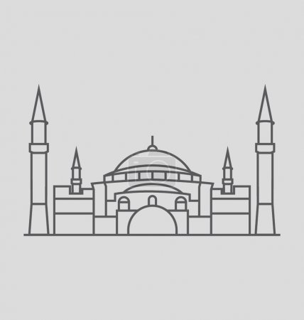 Hagia Sophia Solid Vector Illustration