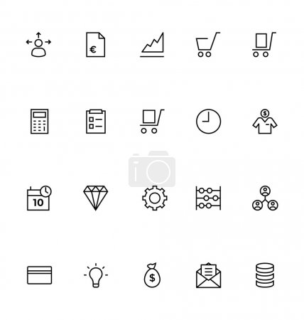 Illustration for Get for your next business and trading designs! You can use these Trade vector icons any way you like, the set will pretty fit to the business website or personal blog! - Royalty Free Image