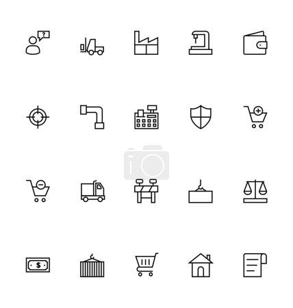 Handlu ikony wektor zarys 4