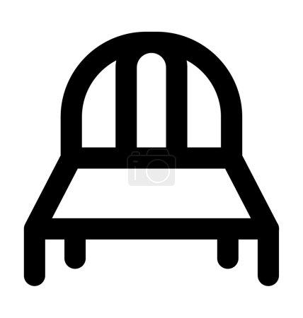 Icône vectorielle de ligne audacieuse de lit