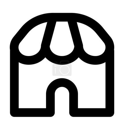 Store Icône vectorielle de ligne audacieuse