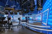 TV studio shooting for news