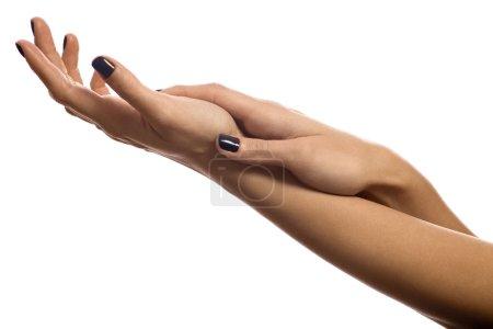 Hands fondling