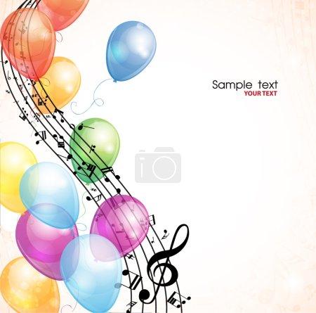 Illustration pour Fond musical avec boules. Vecteur - image libre de droit
