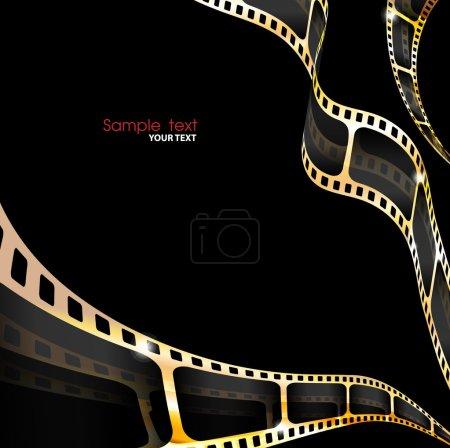 Rouleau de pellicule photographique couleur or