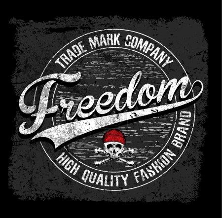 Freedom typography tee graphic design