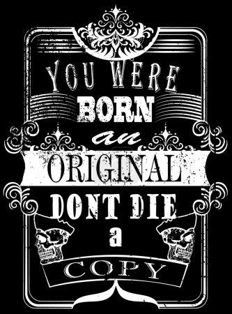 Illustration pour Vintage Slogan homme T shirt graphisme vectoriel - image libre de droit