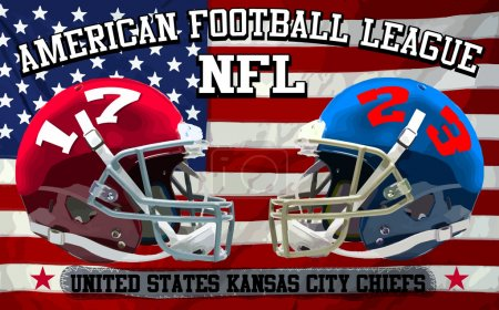 American football flag - Vintage vector print for boy sportswear