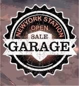 Vintage garage retro signs and labels