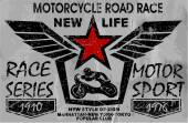vintage motorcycle labels badges and design elements