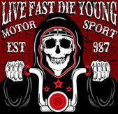 Skull Poster Vintage Man T shirt Graphic Vector Desig
