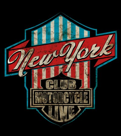 Illustration for Vintage New York City Logo T shirt Graphic Design - Royalty Free Image