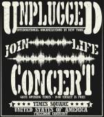 Vintage concert typographic for t-shirt tee designpostervecto