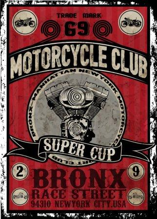 Oldtimer Motorrad Vektor set.skull Fahrer Motorrad Vektor Set