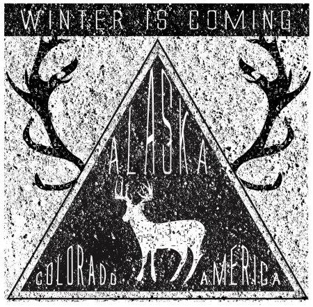 Winter t shirt graphic design