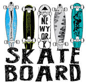 Skate board typography t-shirt graphics vectors
